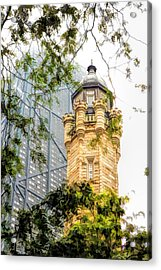 Chicago Historic Water Tower Fog Acrylic Print by Christopher Arndt