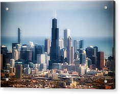 Chicago Looking East 02 Acrylic Print by Thomas Woolworth