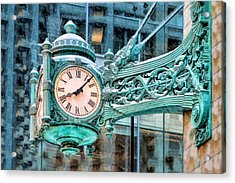 Chicago Marshall Field State Street Clock Acrylic Print by Christopher Arndt