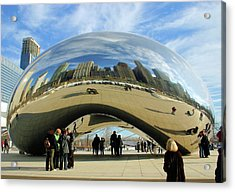Chicago Reflected Acrylic Print by Kristin Elmquist