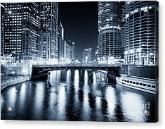 Chicago River At State Street Bridge Acrylic Print by Paul Velgos