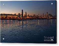 Chicago Skyline At Dusk Acrylic Print by Sven Brogren