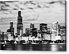 Chicago Skyline At Night Acrylic Print by Paul Velgos