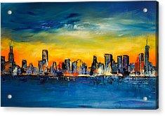 Chicago Skyline Acrylic Print by Elise Palmigiani