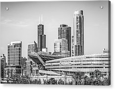 Chicago Skyline With Soldier Field And Willis Tower  Acrylic Print by Paul Velgos