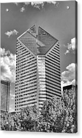Chicago Smurfit-stone Building Black And White Acrylic Print by Christopher Arndt