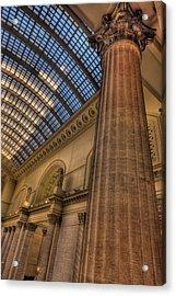Chicago Union Station Column Acrylic Print by Steve Gadomski