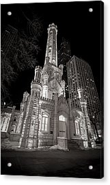 Chicago Water Tower Acrylic Print by Adam Romanowicz