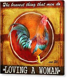 Chicken Little Acrylic Print by Joel Payne
