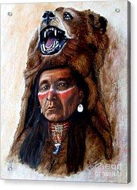 Chief Running Bear Acrylic Print by Amanda Hukill