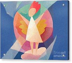 Child Angel Acrylic Print by Lutz Baar