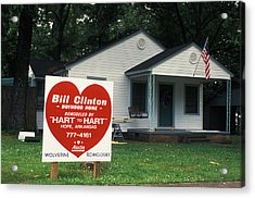 Childhood Home Of Bill Clinton Acrylic Print by Carl Purcell