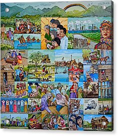 Childhood Memories Of My Mother Country Pilipinas Acrylic Print by Andre Salvador