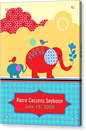 Children's Elephant Poster Acrylic Print by Misha Maynerick