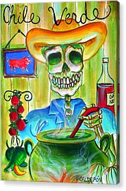 Chile Verde Acrylic Print by Heather Calderon