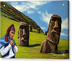 Chile Easter Island Acrylic Print by Paul Meijering