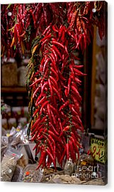 Chilli Peppers Acrylic Print by Svetlana Sewell