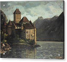 Chillon Castle Acrylic Print by Gustave Courbet