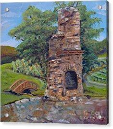 Chimney Love -cartecay Vineyards - Ellijay Ga Acrylic Print by Jan Dappen