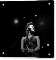 China Moses Black-and-white Acrylic Print by Jean Francois Gil