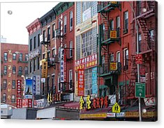 China Town Buildings Acrylic Print by Rob Hans