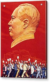 Chinese Communist Poster Acrylic Print by Granger