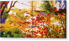 Chinese Garden Grace Acrylic Print by Melody Cleary