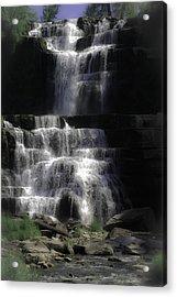 Chittenango Falls Acrylic Print by DigiArt Diaries by Vicky B Fuller