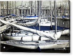 Choices In The Port Acrylic Print by John Rizzuto