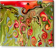 Chokecherry Abstract  Acrylic Print by Michelle  BarlondSmith