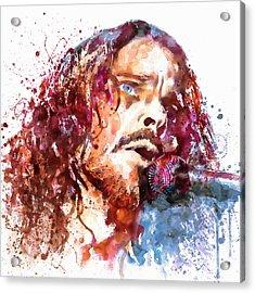 Chris Cornell Acrylic Print by Marian Voicu