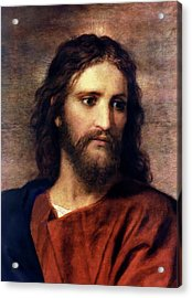 Christ At 33 Acrylic Print by Heinrich Hofmann