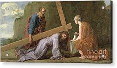 Christ Carrying The Cross Acrylic Print by Eustache Le Sueur