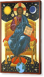 Christ Enthroned Icon  Acrylic Print by Mark Dukes
