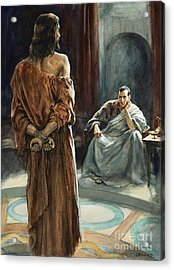 Christ In Front Of Pontius Pilate Acrylic Print by Henry Coller