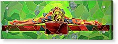 Christ In Stained Glass Acrylic Print by Kevin Davidson