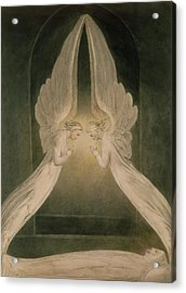 Christ In The Sepulchre Guarded By Angels Acrylic Print by William Blake