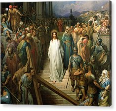 Christ Leaves His Trial Acrylic Print by Gustave Dore