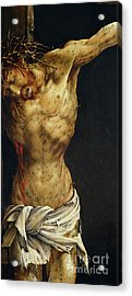 Christ On The Cross Acrylic Print by Matthias Grunewald