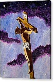 Christ On The Cross Acrylic Print by Michael Vigliotti