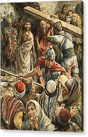 Christ On The Way To His Crucifixion Acrylic Print by Henry Coller