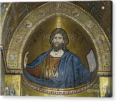 Christ Pantocrator Acrylic Print by Erik Falkensteen