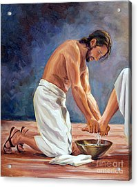 Christ The Servant Acrylic Print by Laura Bates