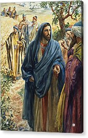 Christ With His Disciples Acrylic Print by Henry Coller