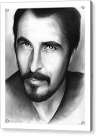 Christian Bale Acrylic Print by Greg Joens