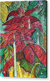 Christmas Candlelight Acrylic Print by Mindy Newman