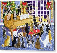 Christmas Chorus Acrylic Print by Pat Scott