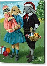 Christmas Greetings From Appletree Hollow - Animal Art Acrylic Print by Linda Apple