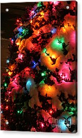Christmas Lights Coldplay Acrylic Print by Wayne Moran