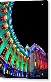 Christmas Lights Of Denver Civic Center Park Acrylic Print by Kevin Munro